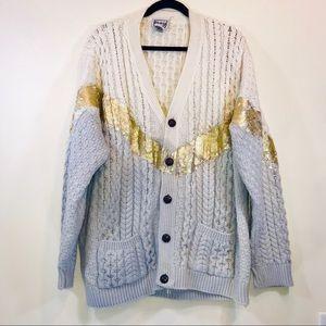 Rag Union Gold Stripe Repurposes Cardigan - #1282